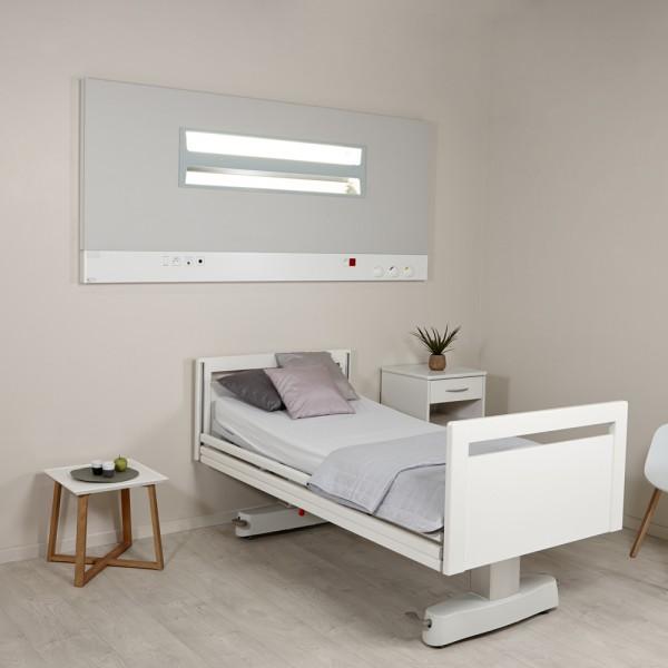 Eclairage d 39 un chambre d 39 h pital gaine t te de lit murale for Chambre d hopital